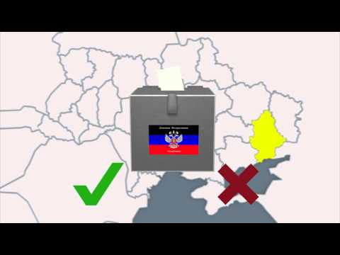 Violence at self-rule referendums in east Ukraine