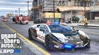 GTA 5 MOD LSPDFR 6** - SUPERCARS !! (GTA 5 REAL LIFE PC MOD) LAMBO