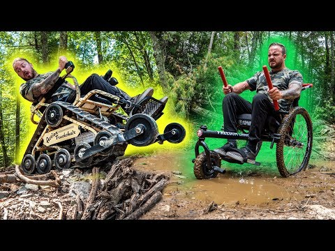 TAKING OFF ROAD WHEELCHAIRS TO THE LIMIT!! (I got stuck!!)
