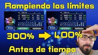 Final fantasy brave exvius:Rompiendo los límites del 300% al 400%