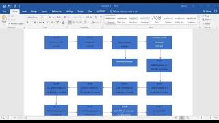 Creating a Flowchart in Word