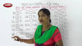 Lesser Than Greater Than | Maths | Basic Maths | Preschool in Bengali | preschool Maths