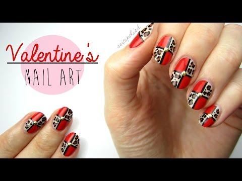 Nail Art for Valentine's Day: Leopard Blocking!