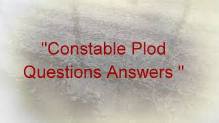 """Constable Plod"" Questions Answers (Oxford Reading Circle Book - 2)"