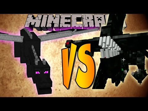 ENDER DRAGON VS NIGHTMARE - Minecraft Batallas de Mobs - Mods