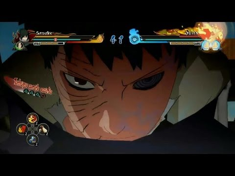 Naruto Shippuden Ultimate Ninja Storm Revolution Obito vs Sasuke Gameplay
