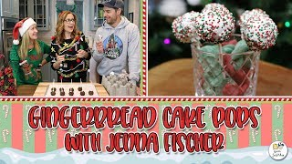 Gingerbread Cake Pops With Jenna Fischer | Baking With Josh & Ange
