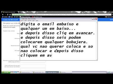 Como Hakiar Hotmail, Conta do microsft (fuciona 2013)