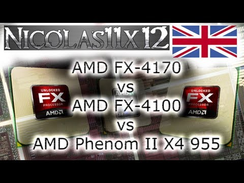 AMD FX-4170 vs AMD FX-4100 vs AMD Phenom II X4 955 CPU Comparison Review