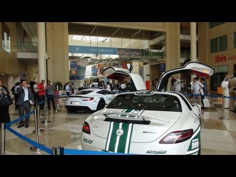 Dubai Police Supercar Fleet - One 77. Aventador. SLS. & Bentley CGT!!