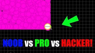NOOB vs PRO vs HACKER vs TROLL in AGAR.IO MOBILE RUSH MODE!