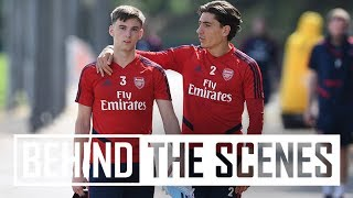 Tierney and Bellerin back out with the group 💪 | Behind the scenes at Arsenal Training Centre