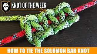 How to Tie the Solomon Bar for a DIY Knot Board Display
