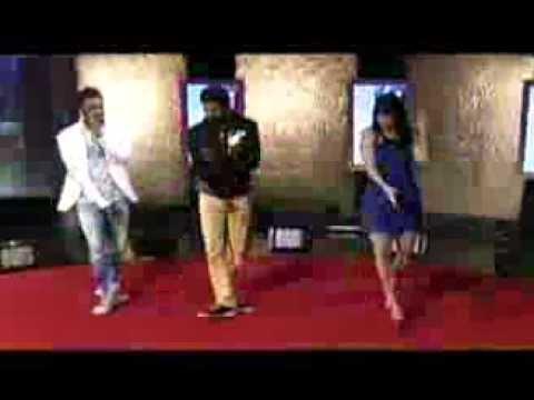 Remo D'souza,Prabhudeva and Lauren Gottlieb promote ABCD on NDTV