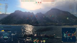 World of Warships Destroyer and Battleship platoon gameplay