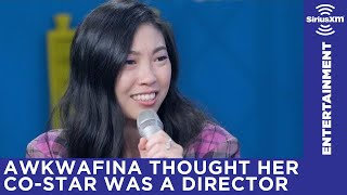 Awkwafina thought Henry Golding was the assistant director when they first met on set