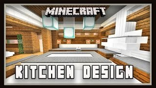 Minecraft:  How To Make A Kitchen Design   (Modern House Build Ep. 20)