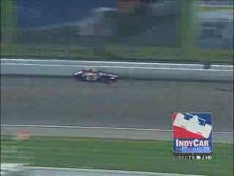 Mario Moraes crashes at Kansas - Indycar 2008 Video