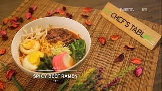 Chef's Table - Spicy Beef Ramen