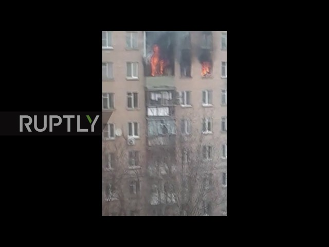 Russia: Woman survives fall from 8th floor in plunge to escape blaze