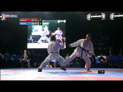Aghayev Rafael (AZE) - Horuna Stanislav (UKR) Gold medal Fight Karate1 Premier League, Tyumen 2013