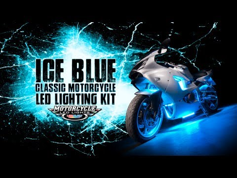 LEDGlow's Ice Blue Classic Motorcycle LED Lighting Kit
