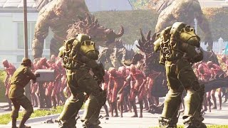 Wasteland Creatures Invade Pre-War Sanctuary! - Fallout 4 NPC Battle