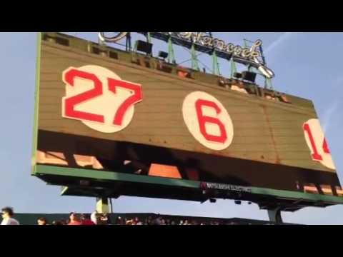 Johnny Pesky Pre-game tribute Red Sox vrs Angels 8/21/12