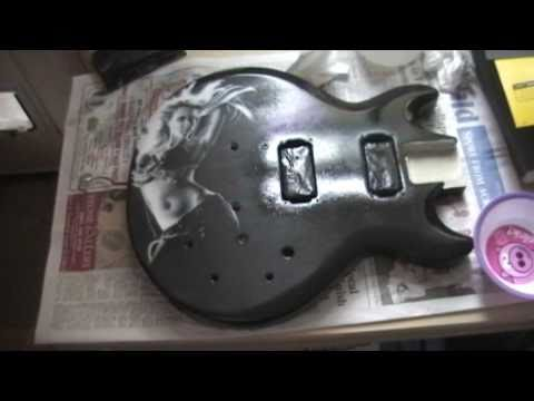 Part 2 Jessica Alba custom Ibanez GAX70 Airbrushed Electric Guitar