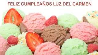 Luz del Carmen   Ice Cream & Helados y Nieves - Happy Birthday