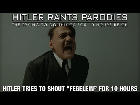 Hitler tries to shout