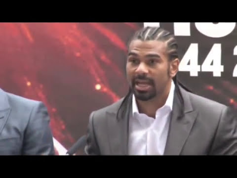 David Haye v Dereck Chisora Press Conference Part 2