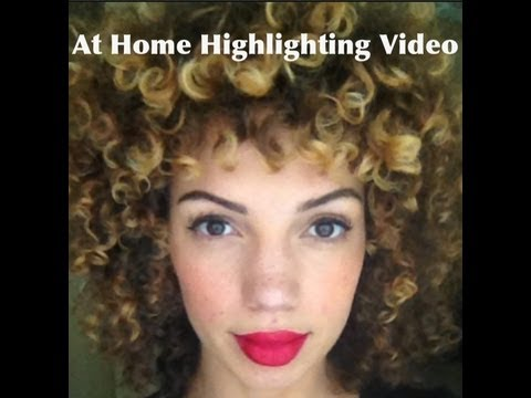 At Home Highlighting For Curly Hair