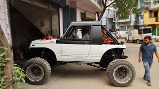 Gypsy Converted To Monster Truck | Modified Maruti Gypsy | Gypsy With Scorpio Suspension | Gypsy