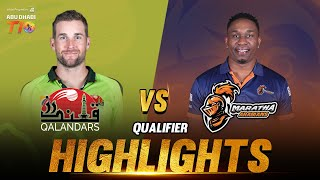 Match 25 I Qualifier I Maratha Arabians vs Qalandars I Aldar Properties Abu Dhabi T10