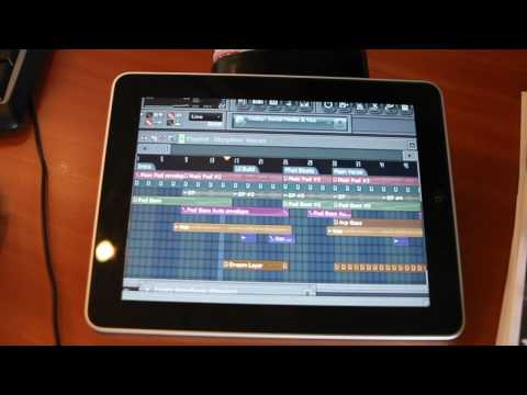 FL Studio running on PC controlled by iPad using iTeleport ...