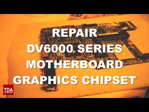 HP Pavilion DV6000 black screen how fix BGA rework and reflow graphics video with problems with oven