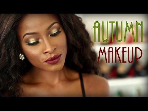 Olive Green & Brown Smokey Eye | Autumn Makeup | Full Face Routine