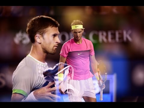 Rafael Nadal vs Tim Smyczek Match Point Australian Open 2015