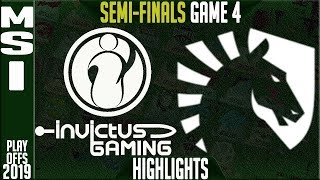 IG vs TL Highlights Game 4 | MSI 2019 Semi-finals Day 6 | Invictus Gaming vs Team Liquid G4
