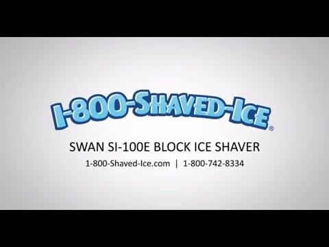 Swan block shaved ice shaver si 100e