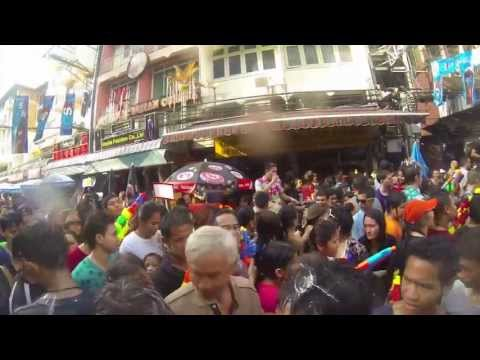Songkran 2013 on Bangkok's Khao San Road