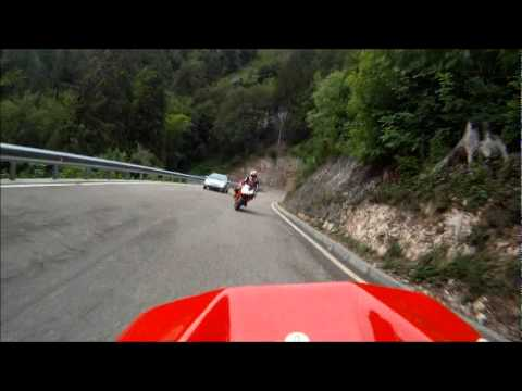 Moto Guzzi MGS-01 followed by Ducati 1098S