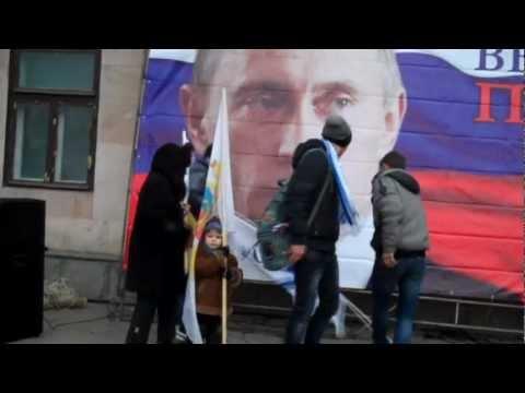 Miting în susţinerea lui Putin la ambasada rusă