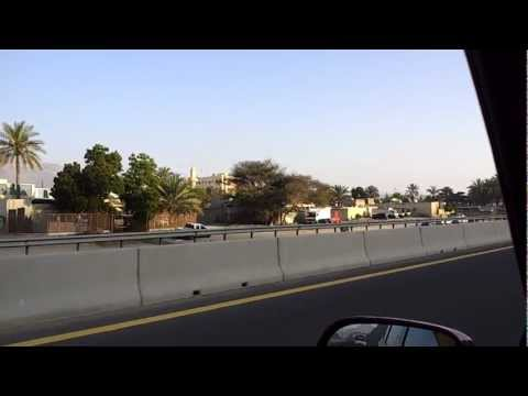 Driving in Khorfakkan, UAE نقود السيارة في خورفكان
