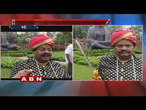 TDP MP Siva Prasad Protest In Uyyalawada Narasimha Reddy Getup At Parliament