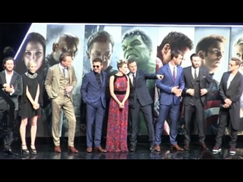 Avenger Age of Ultron Cast Interview Cast of 'the Avengers Age of