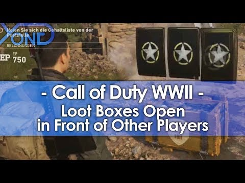 Call of Duty WWII Loot Boxes Open in Front of Other Players