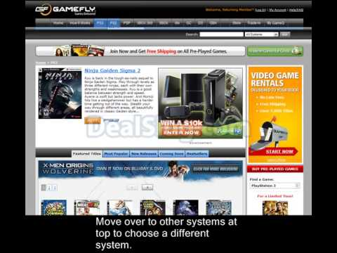 Free Trial for GameFly Online Video Game Rental Service