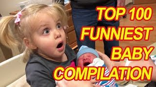 100 Funny Baby Videos  | Hilarious Babies Compilation (2018) Viral Compilations